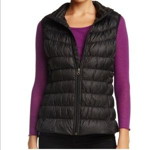 EU Be By Blanc Noir Black Quilted Down Puffer Vest